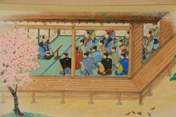 Heishu teaching the samurai class.