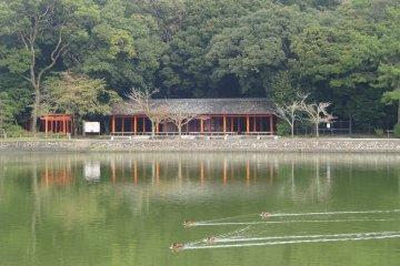 Rest station by Fukuda Pond