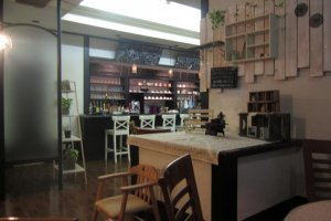 A view of the desserts counter inside Fika