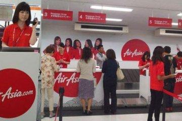亚航日本的柜台