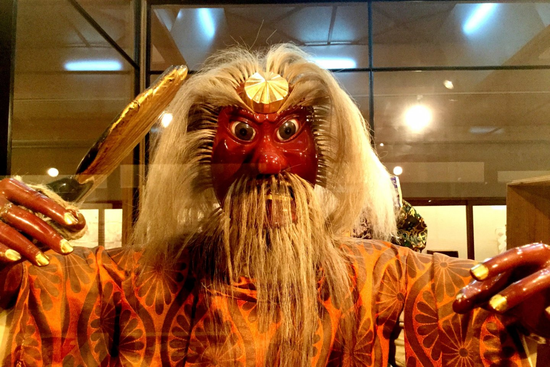 Fierce-looking tengu figure