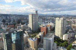 Вид на Сендай из здания AER