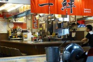A regular okonomiyaki stall