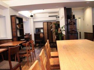 브라질 음악만 들려오는 조용한 카페