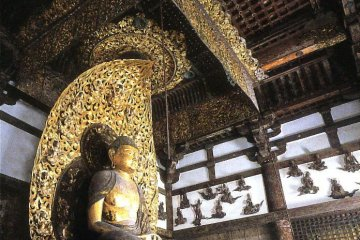 Amitabha Tathagata, sculpture by Jocho of the Heian period