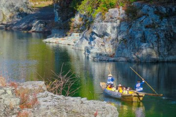 Calm part of Arakawa River