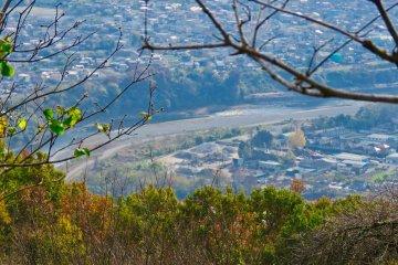 View of Arakawa River from Mt Hodo