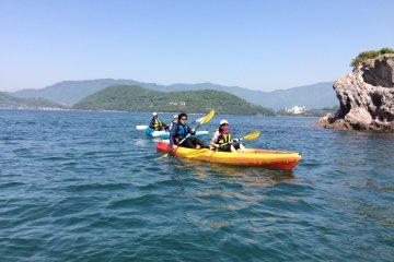 Uninhabited island sea kayak experience