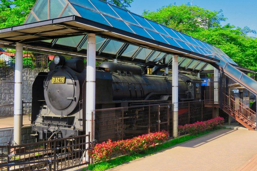 Yamakita Town Railroad Park in spring