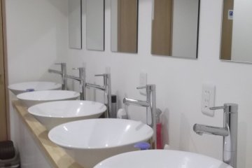 The very swish sinks and taps