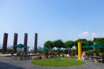 The sixth floor terrace is also a great place to unwind, with plenty of space for the kids to run around