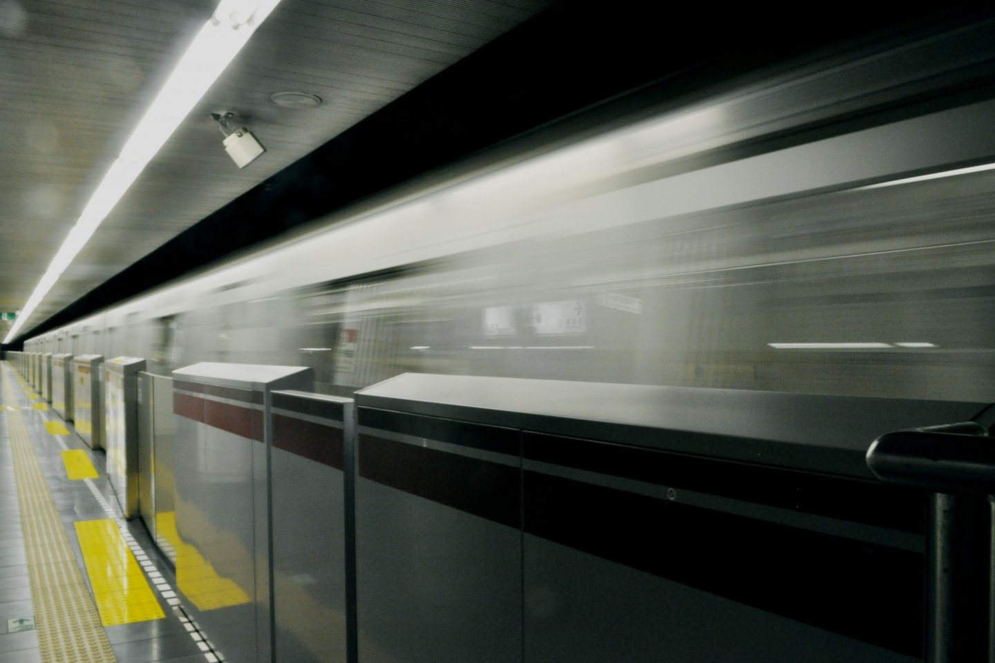 A train passing by on the Namboku line