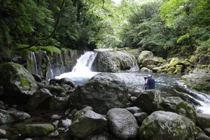 Kikuchi Gorge has several waterfalls