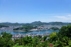 The view over Onomichi from the top of Senkoji Park