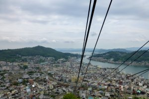 Looking down over the houses crammed onto Onomichi's hillside