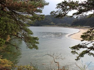 Залив у острова