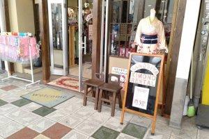 Pode alugar um quimono para passear na rua ou tirar fotos em estúdio