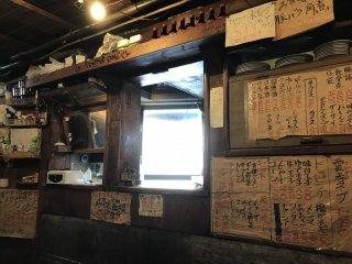 라멘이 만들어지는 작은 주방