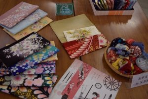 You'll find kimono crafts available for purchase