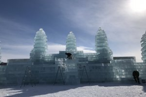 Last year's event had an ice replica of Cambodia's Angkor Wat