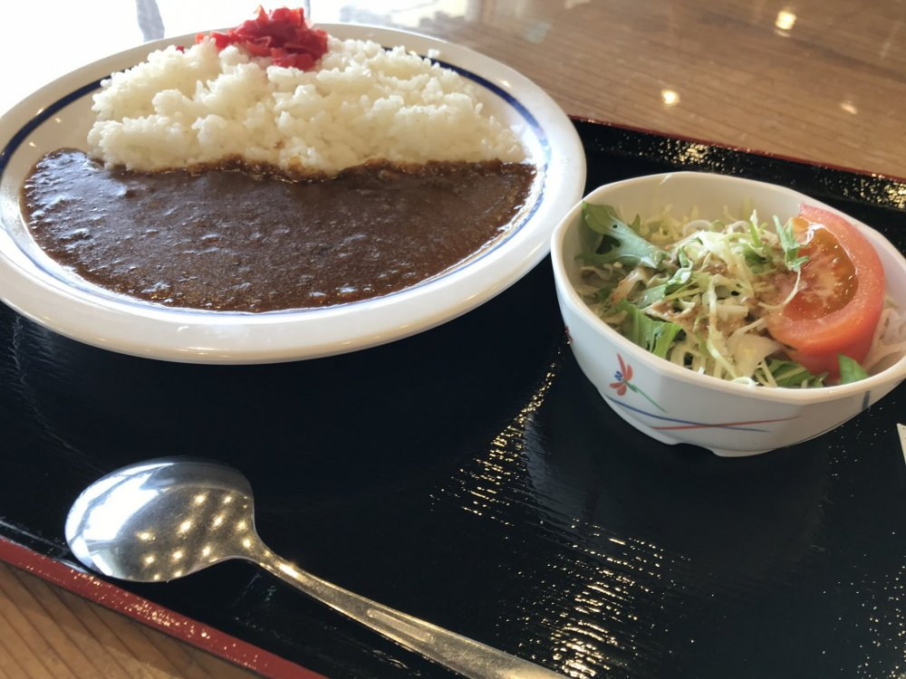 The restaurant serves up quick and easy favorites like curry rice in hearty portions