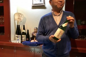 The bar owner, Kaoru Sasaki, is passionate and knowledgable about sake
