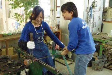 Glass making workshop