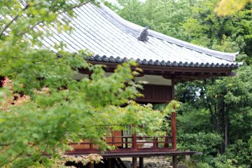 Traditional wooden building with genuine Japanese Shoin-style architecture