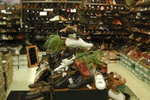 Fine footwear on display