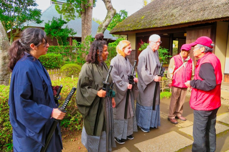 At Samurai Houses, Sakura City