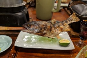 Amego - a sweet river fish, grilled whole