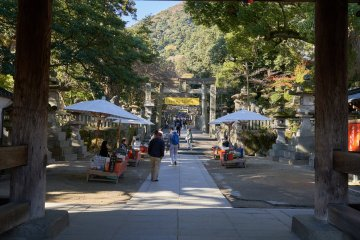 The base of Konpira Shrine