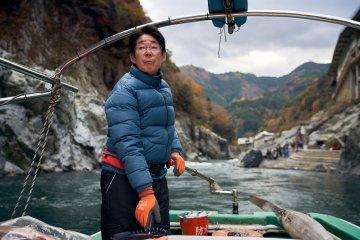 A river boat captain on Yoshino River