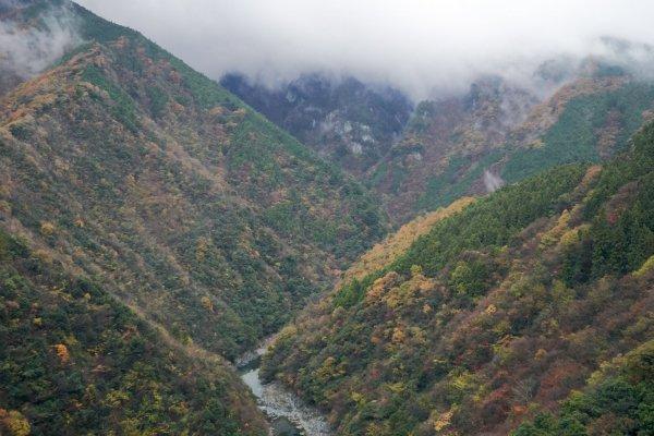 The sprawling landscape of Iya Valley