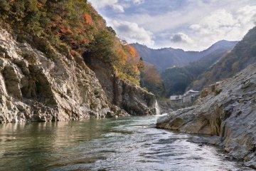 The Yoshino River running through Oboke Gorge