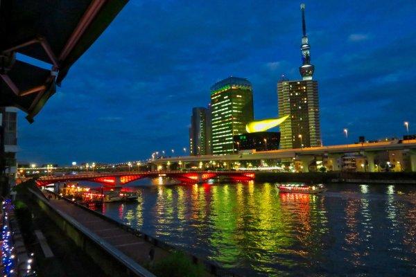 Evening at Asahi Group Headquarters Building