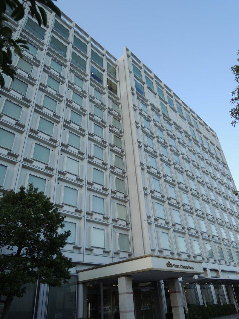 Hotel Crown Palais Kitakyushu from up close
