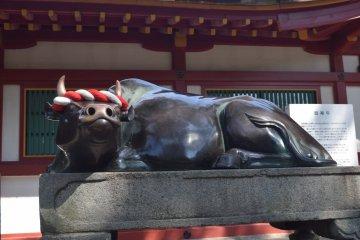 Rub the ox statue, and it's said you'll gain wisdom