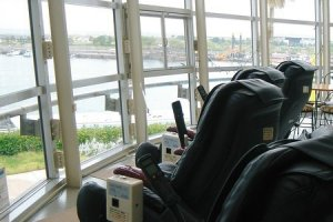 Massage chairs on second floor