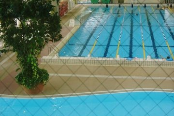 View of pools