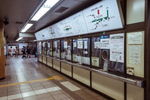The ticket counter is on platform 1 and lets you buy tickets from humans.