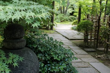 The pathway leading from the tea ceremony rooms to the garden.
