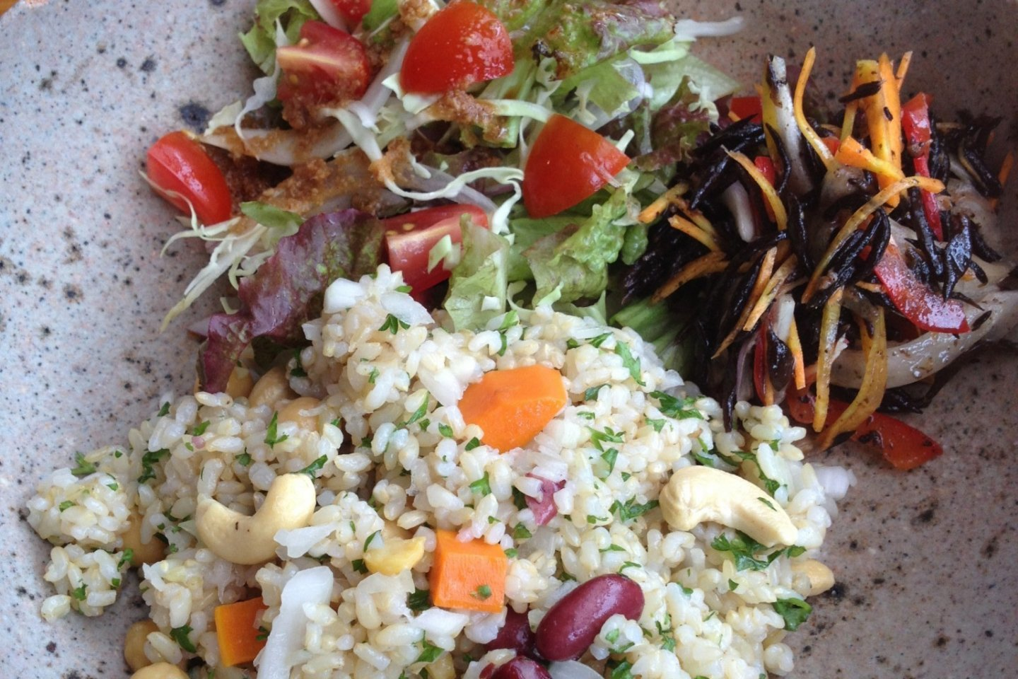 Rice pilaf plate lunch