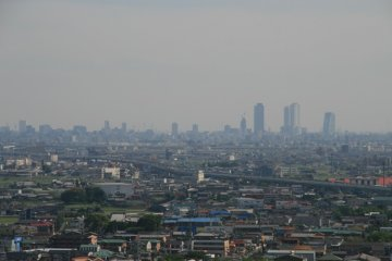 Nagoya City and the Nobi Plain from Komaki Castle