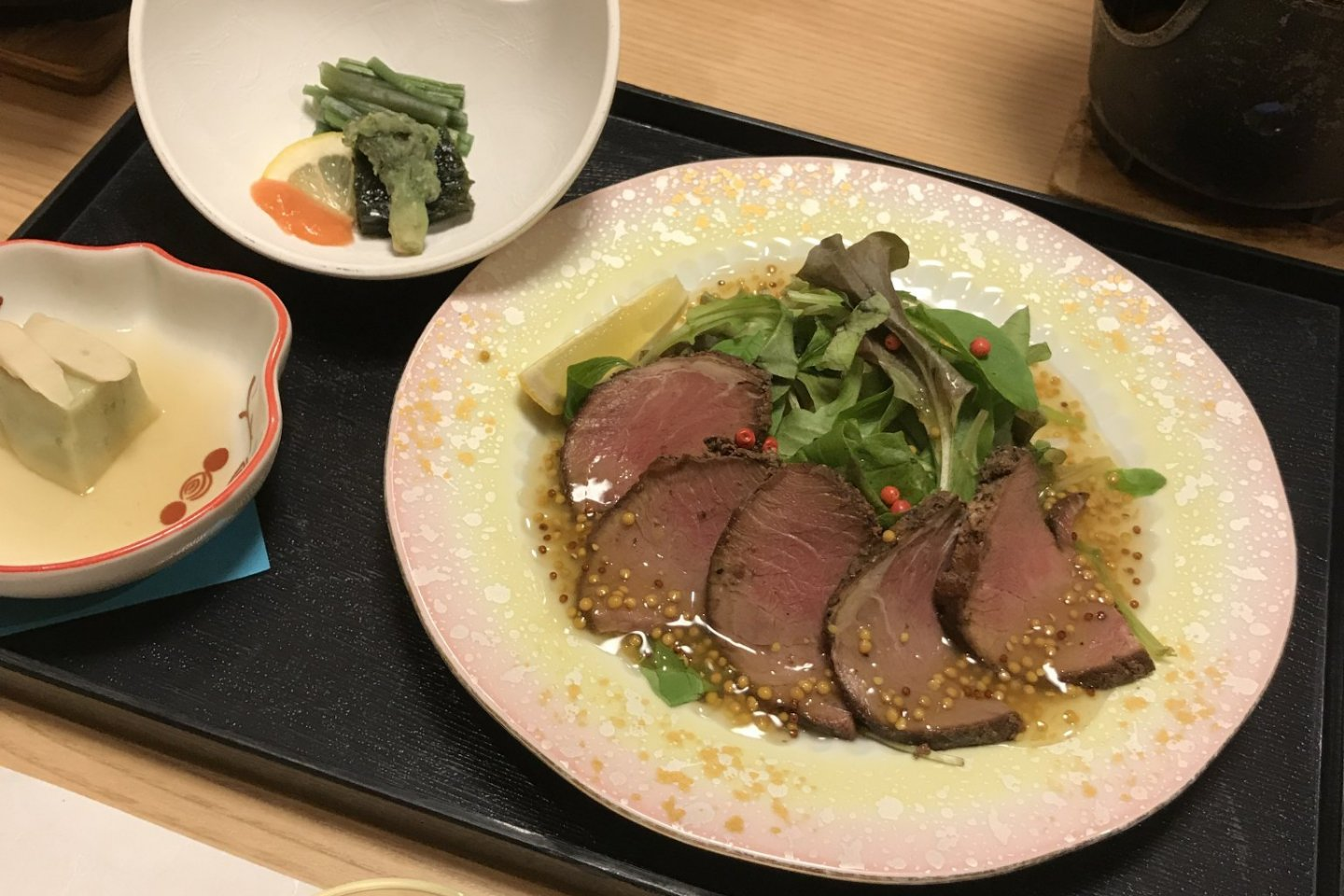 Meals here are served kaiseki style, and they can cater to your preferences if you're not a huge seafood fan