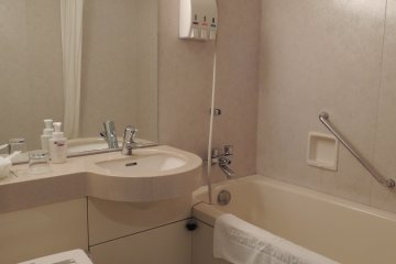 Single room bathroom