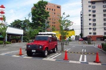 Open air carpark at Hotel Grantia Akita Spa Resort