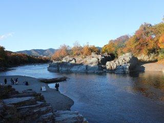 La rivière Arakawa à Nagatoro en automne