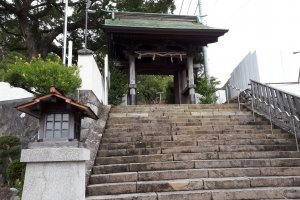 Steps at the entrance of the shrine compound