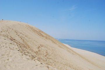 คุณสามารถเดาขนาดของเนินทรายนี้ได้จากขนาดของผู้คนบนเนิน